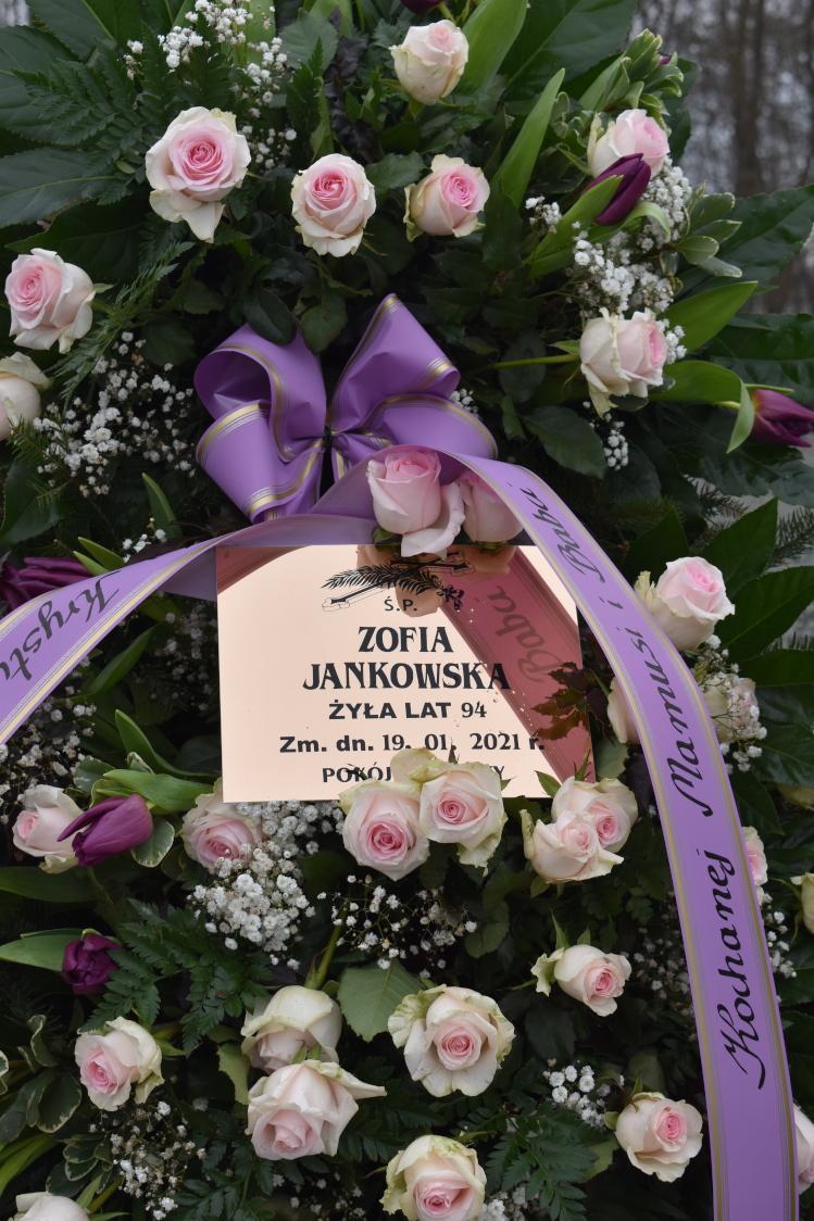 Uroczystości pogrzebowe por. Zofii Jankowskiej.